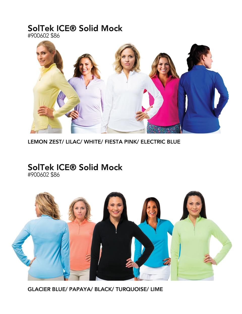 SolTek ICE   Solid Mock  900602  86  LEMON ZEST  LILAC  WHITE  FIESTA PINK  ELECTRIC BLUE  SolTek ICE   Solid Mock  900602...